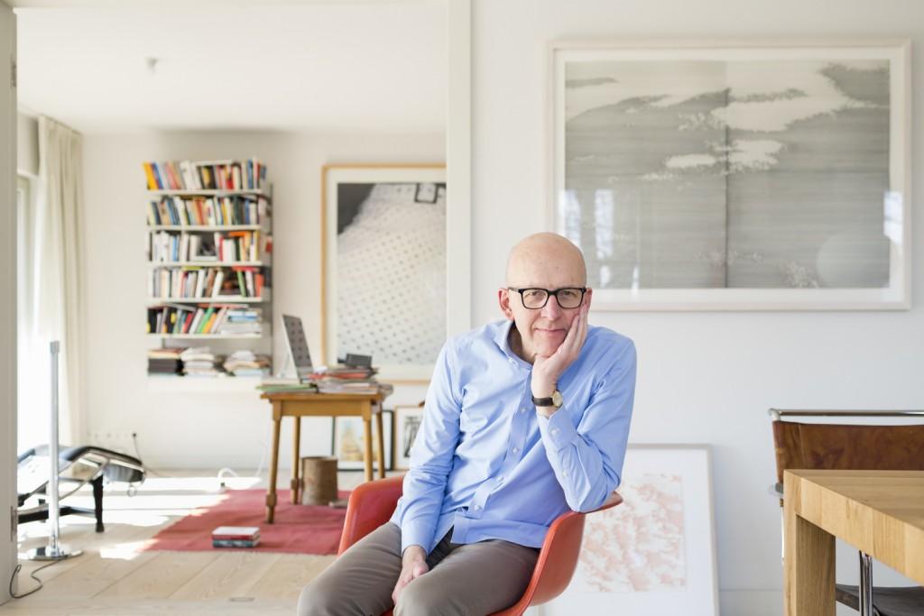 Prof. Dr. Heinz Bude, Soziologe und Hochschullehrer, in seiner Wohnung in Berlin-Weißensee, März 2016